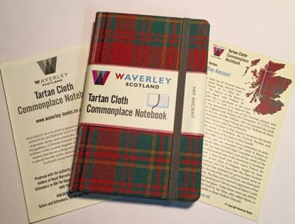 Waverly Tartan Cloth Notebook insert cards
