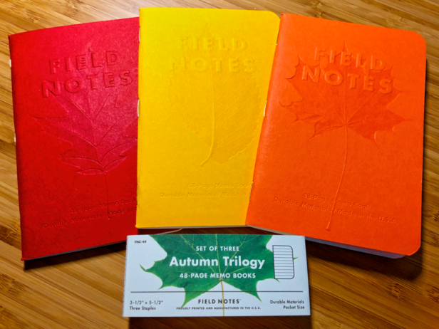 Field Notes Autumn Trilogy Covers