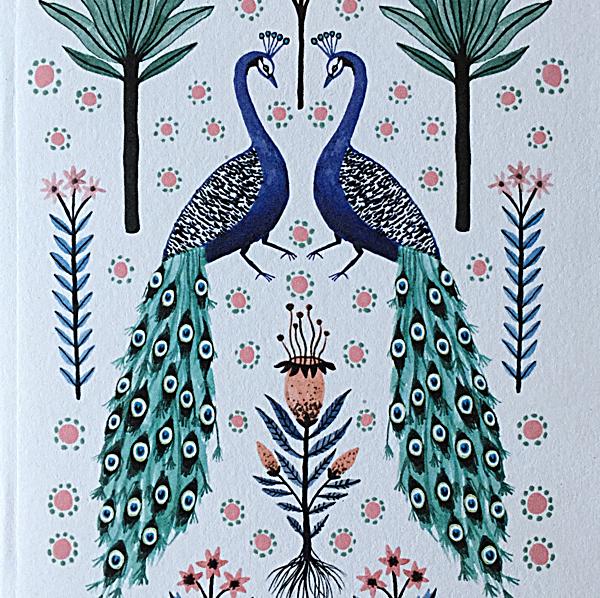 Papio Press Notebooks Peacocks