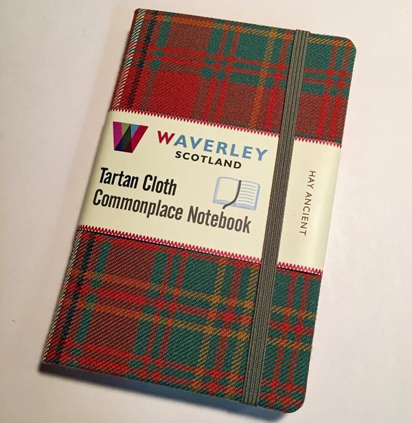 Waverly Tartan Cloth Notebook