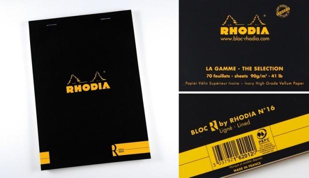 Rhodia R Premium notepad